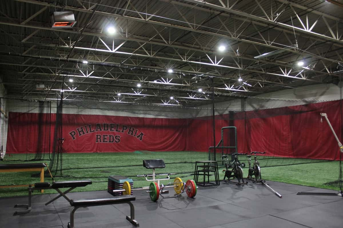Philadelphia Reds training field and gym for baseball training